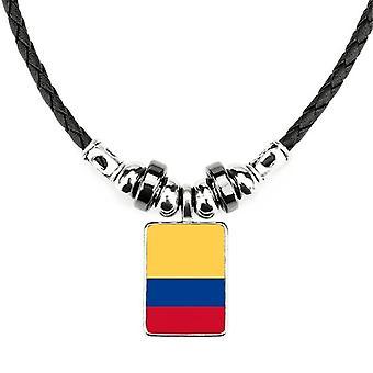 Kolumbijská národná vlajka Južná Amerika Country náhrdelník
