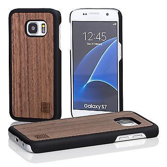 32. aus Holz zurück Fall für Samsung Galaxy S7 (SM-G930) - Nussbaum