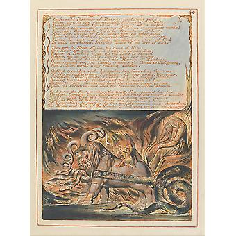 William Blake - Jerusalem Plate 46 Poster Print Giclee