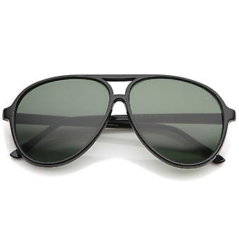 دمعة أعلى شقة الرجعية على شكل عدسة ملونة محايدة الطيار النظارات الشمسية 59 مم