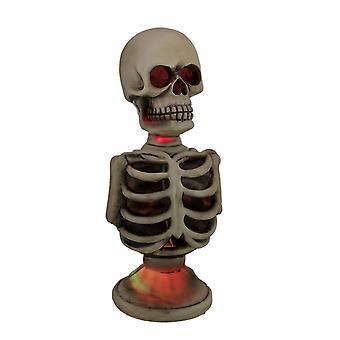 Color Changing LED Skeleton Half Statue