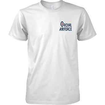 Gelicentieerde MOD-Royal Air Force Insignia logo-mens borst ontwerp T-shirt