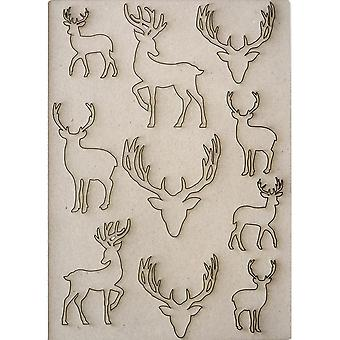 Creative Expressions Pop-ems Greyboard Diecut Shapes Deer*^^