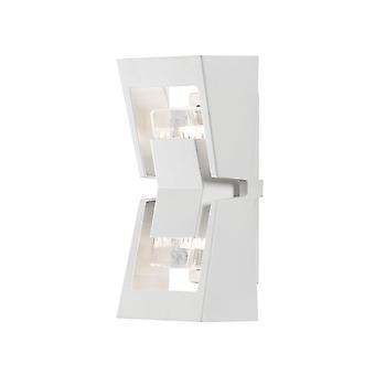 Konstsmide Potenza Modern Garden Wall Light Lantern White