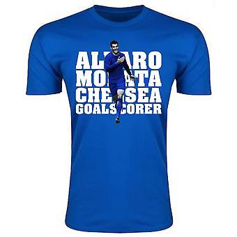 Alvaro Morata Player Chelsea camiseta (azul)