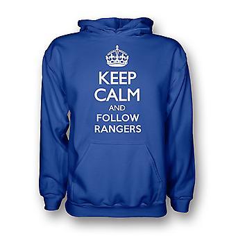 Keep Calm And Follow Rangers Hoody (blue) - Kids