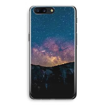 OnePlus 5 Transparant Case (Soft) - Travel to space