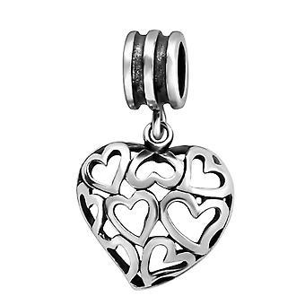 Hjertet - 925 Sterling Silver ren perler - W28221X