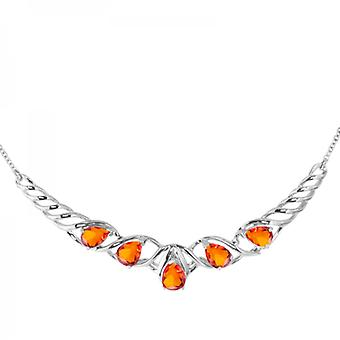 Shipton and Co Ladies Shipton And Co Exclusive Silver And Fire Opal Necklace NQA467FO