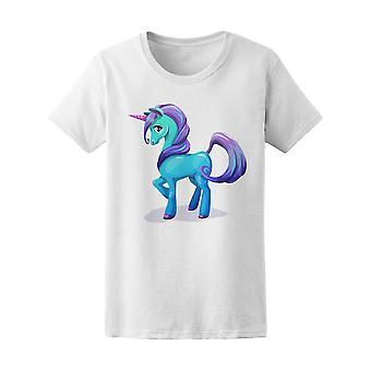 Holographische blaue Einhorn Pony Graphic Tee - Bild von Shutterstock