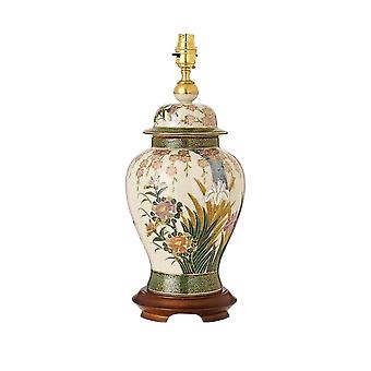 Interiors 1900 Kutani Lily & Irises Single Light Large Ceramic T