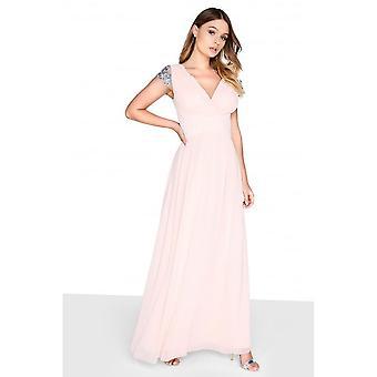 Little Mistress Womens/Ladies Jewel Sleeve Maxi Dress