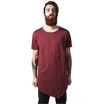 Urban klassikere T-Shirt lange åbne kant front zip tee