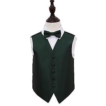 Scuro verde matrimonio greco chiave gilet & Bow Tie Set per i ragazzi