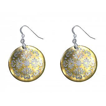 Madre de la pendientes de perlas - Pendientes - plata 925 - madre de la perla - 4 cm