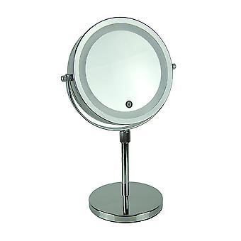 LED valaistu cordless turhamaisuus meikki peili 5X suurennus