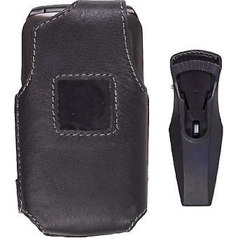 5-pack - trådlösa lösningar läderfodral för Samsung SCH-U310 Knack - svart