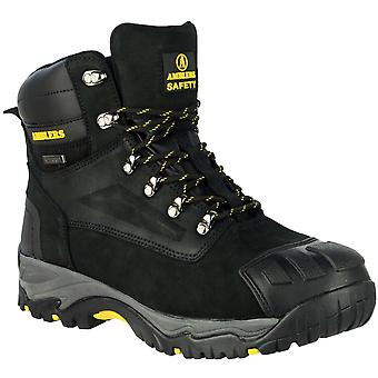 Amblers Safety Mens FS987 Leather Waterproof Safety Boots Black