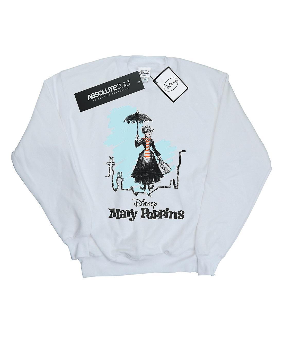 Disney Women's Mary Poppins Rooftop Landing Colour Sweatshirt