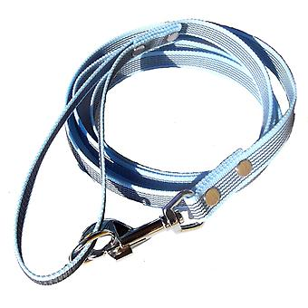 K9-Sport Super-Grip leash with handle, light blue
