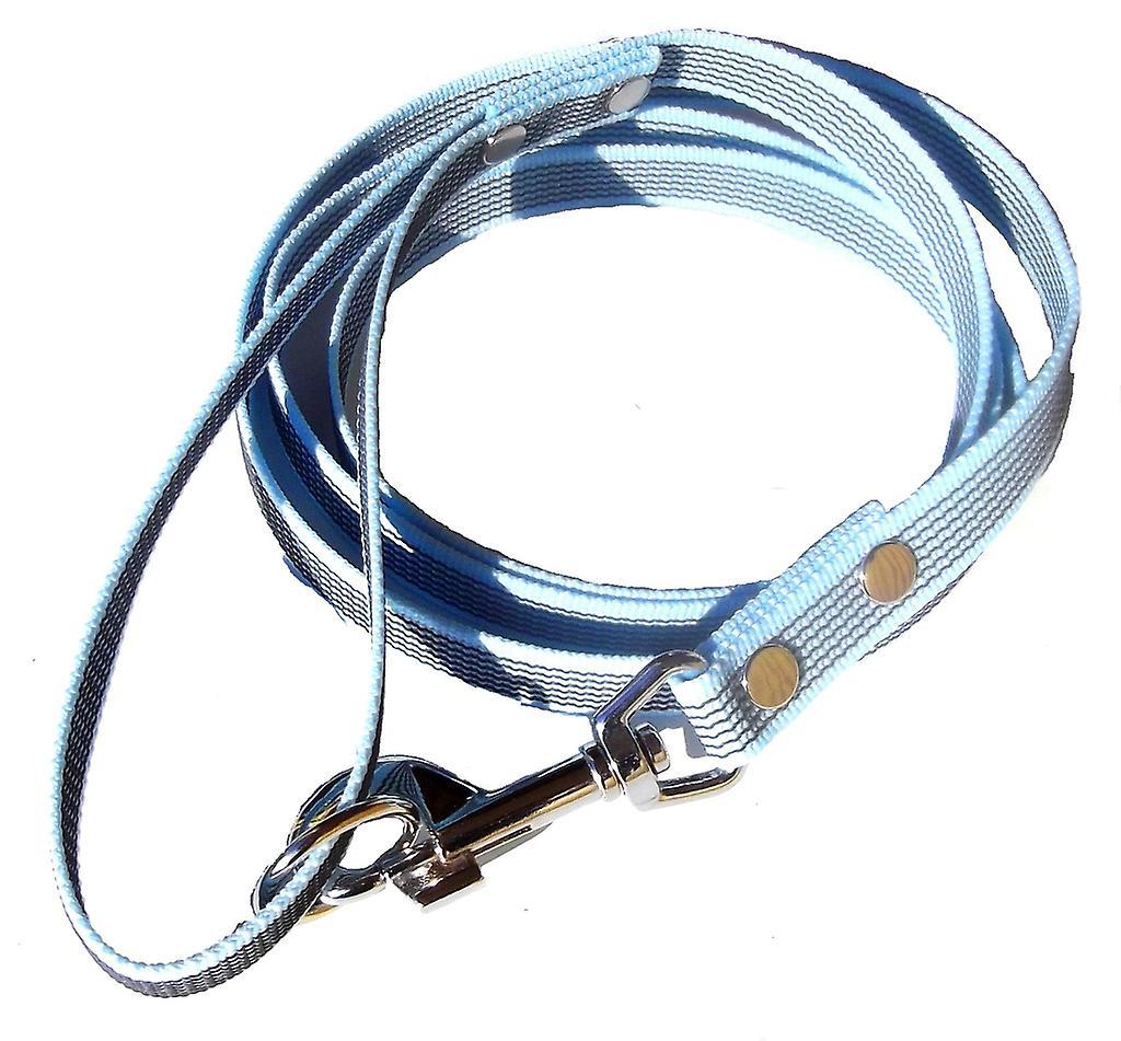 K9-Sport Super-Grip leash with handle, light blue