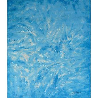 90x120cm، اللوحة الزيتية على قماش باللون الأزرق
