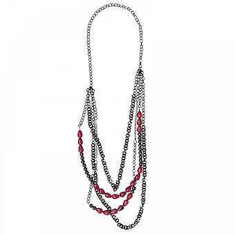 Marie Mero Fuchsia Rose Multi String Necklace