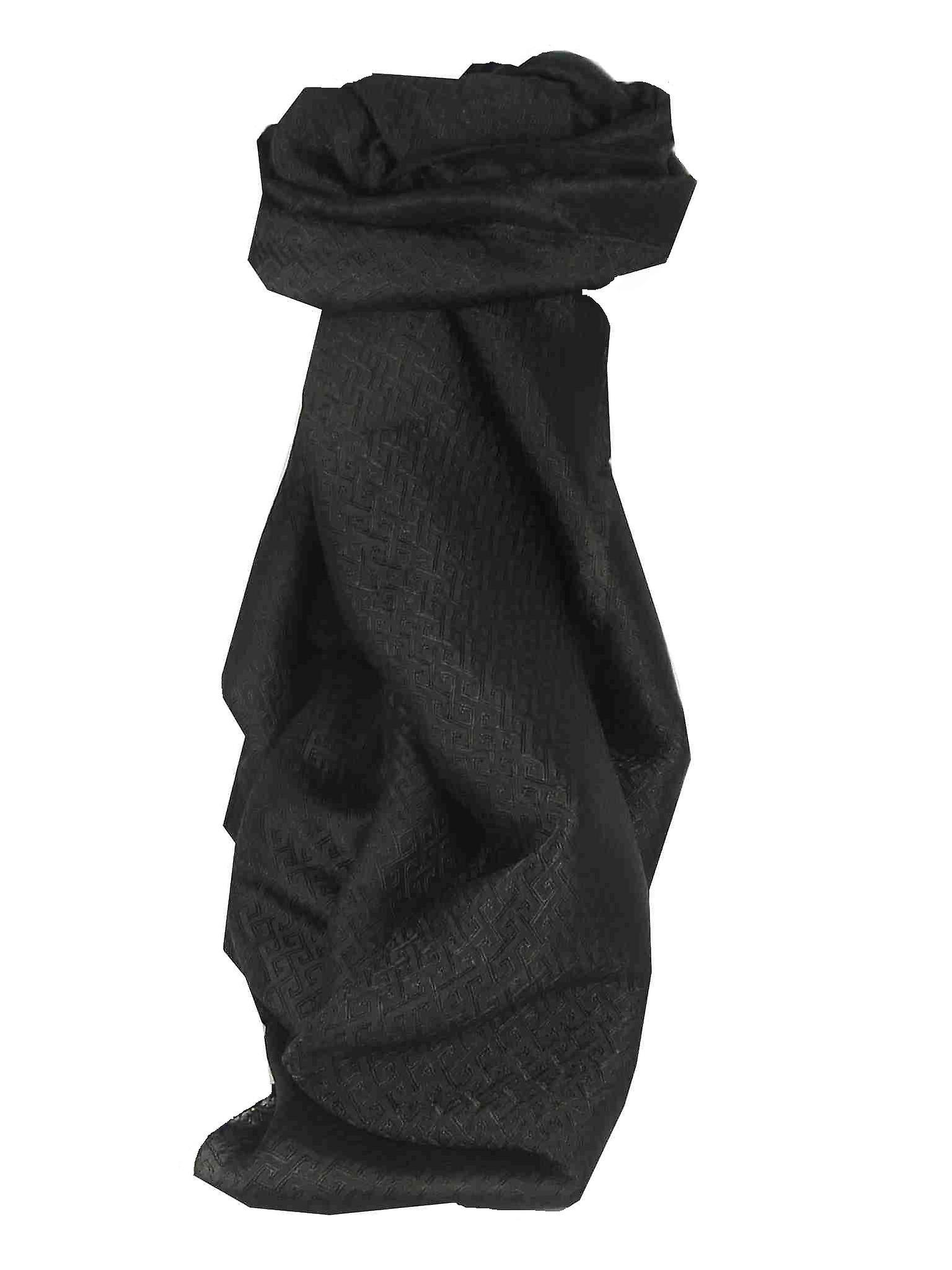Vietnamese Silk Scarf Reversible Hoi-An Da-Lat Black by Pashmina & Silk