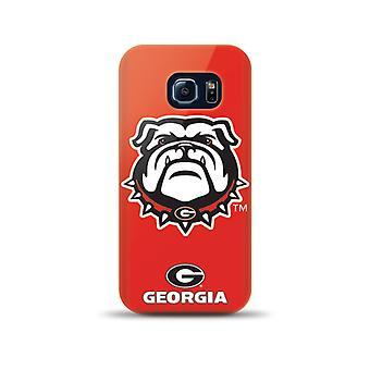 Mizco Sports NCAA Oversized Snapback TPU Case for Samsung Galaxy S6 Edge (Georgia Bulldogs)