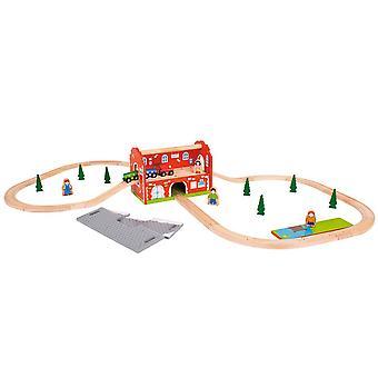 Železniční vlaková stanice bigjigs dřevěná železniční trať