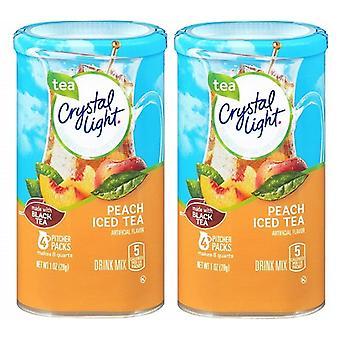 Luz de cristal pêssego gelado chá Drink Mix arremessador Packs 2 Pack