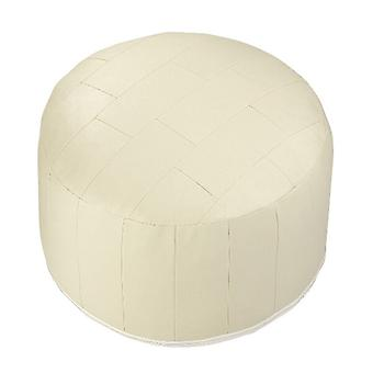 Seat cushion seat stool stool Ottoman faux leather patchwork champagne