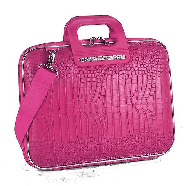 Bombata Bag Siena Cocco Briefcase for 13 Inch Laptop by Fabio Guidoni - Pink