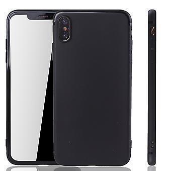 أي فون أبل XS ماكس المحمول الإسكان شوتزكاسي الغطاء الخلفي كيس تغطية قضية أسود