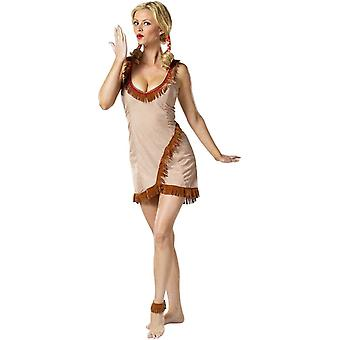 Pocahontas Adult Dress - Sexy Brown Halloween Costume