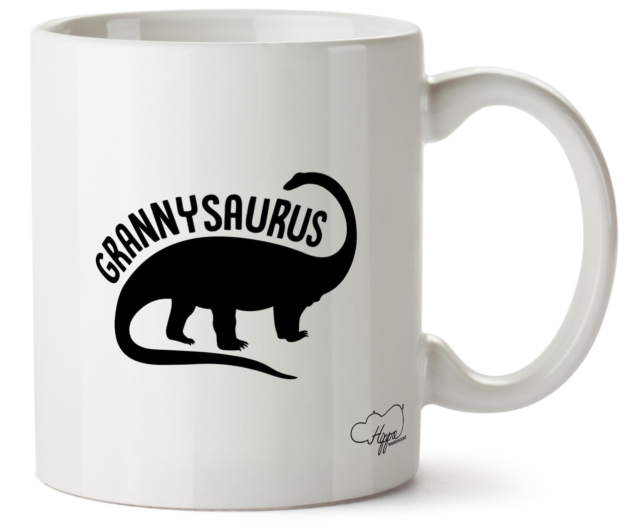 Hippowarehouse Grannysaurus печатных Кубка керамическая кружка 10oz