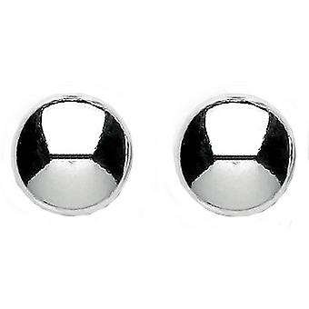 Bella Large Button Stud Earring - Silver