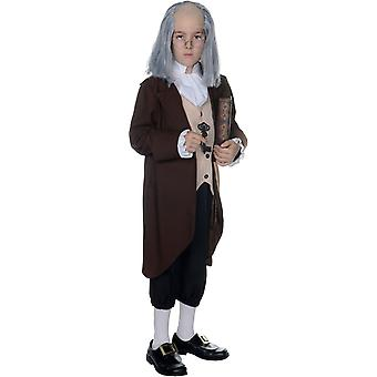 Ben Franklin kind kostuum - 22029