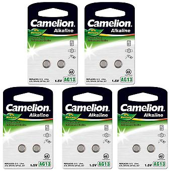 Camelion A76 LR44 AG13 Battery 10-pack