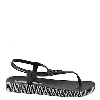 Ipanema Bossa mjuk svart Thong sandal
