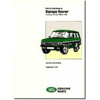 Range Rover Parts Catalogue 1986-1991 (New edition) by Brooklands Boo