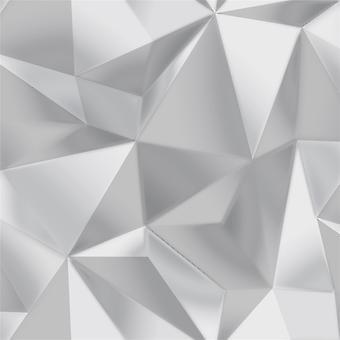 3D Effect Geometric Apex Wallpaper Modern Spectrum Silver Grey Debona