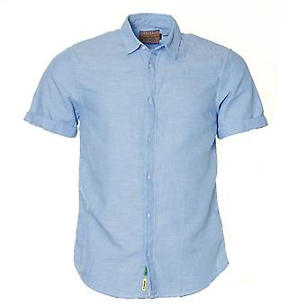 Scotch & Soda Half Sleeve Concealed Button Linen Shirt