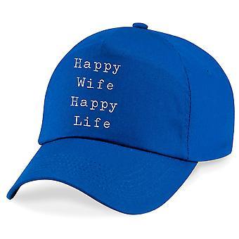 Happy Wife Happy Life Baseball Cap