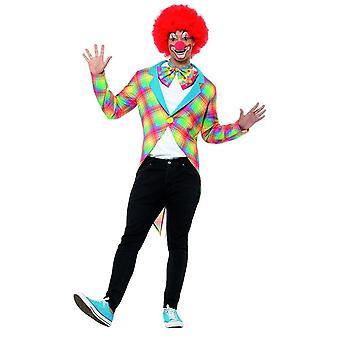 Kockás bohóc tailcoat, cirkusz jelmez