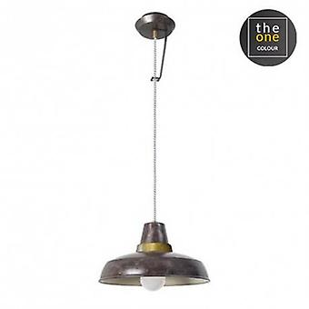 1 Light Wall / Dome Ceiling Pendant Brown