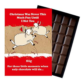 Funny Christmas Gift For Men Women Boxed Chocolate Xmas Present Present for Him or Her XMS101