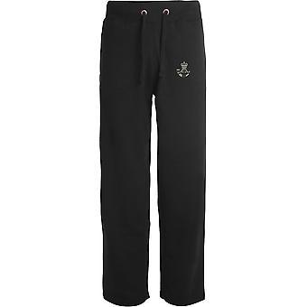 Die Gewehre - lizenzierte britische Armee bestickt offenen Saum Sweatpants / Jogging Bottoms