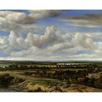 An Extensive Landscape with a Road by a,Philips Koninck,50x40cm