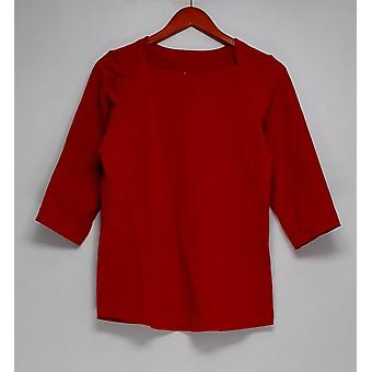 Denim & Co. Top Essentials Perfect Jersey Knit Red A309452